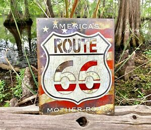 Route-66-Americas-Road-Vintage-Metal-Tin-Sign-Wall-Decor-Garage-Gift-Under-20