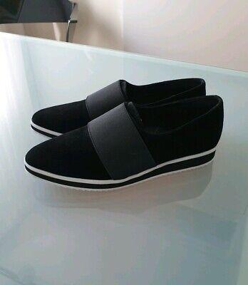 Schuhe KARL LAGERFELD 38 Damen Läufer Sneakers Schwarz Weiß Slip on NEU Leder | eBay
