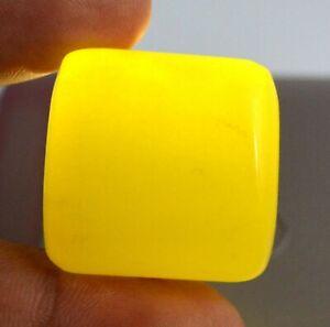 163.10 Ct Madagascar Fancy Tumble Yellow Sapphire Gemstone 29 x 28 mm Natural