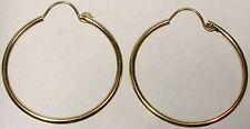 High Quality 14ktGF 25mm Top Wire Hoops Ancient Meso-America Aztec Inca Colombia