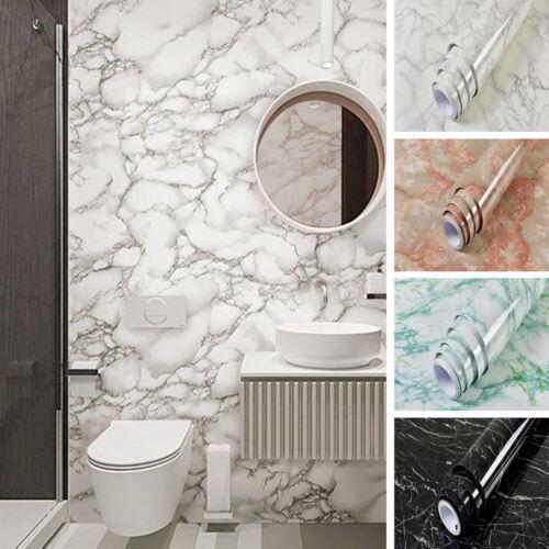 Marble Pattern Contact Paper Kitchen Cupboard Worktop Wallpaper Stickers
