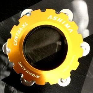 AEGX Axle 15-20mm Gold ASHIMA Disc Rotor Center Lock Adapter