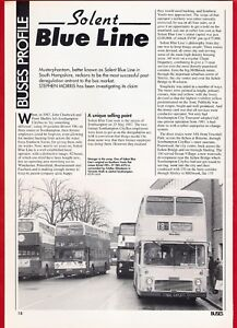 Buses-Magazine-Extract-Solent-Blue-Line-Profile-and-Fleet-Lists-1987-amp-1993