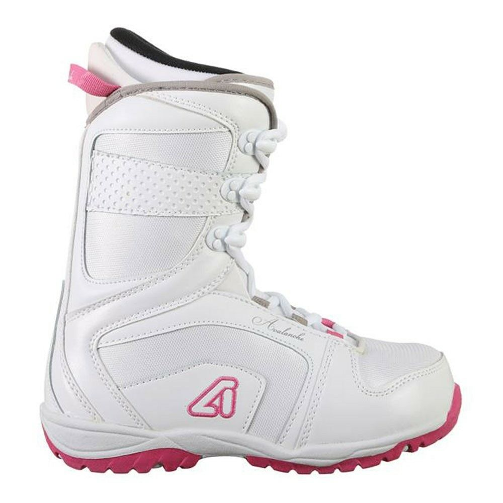 Avalanche Eclipse Womens Snowboard Boots - 9 - White Pink - NEW