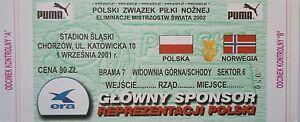TICKET-1-9-2001-Polska-Polen-Norwegen