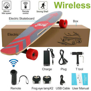 Details about  /Electric Skateboard Power Motor Cruiser Maple Long Board with Remote 20KMH h 256