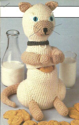 Siamese Cat Cookie Jar crochet PATTERN INSTRUCTIONS