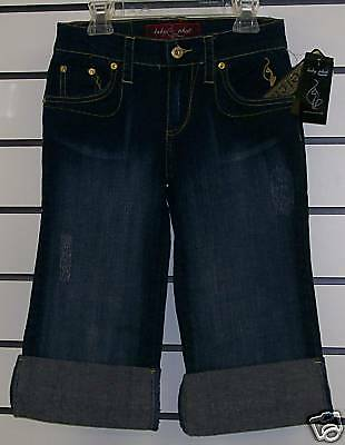 Baby Phat Denim Stretch SHORTS Size 1 bluee Jeans NWT