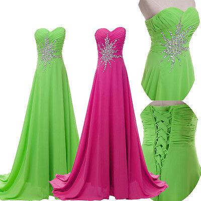Lange Brautjungfer Partykleid Hochzeitskleid Ballkleid Abendkleid Brautkleider