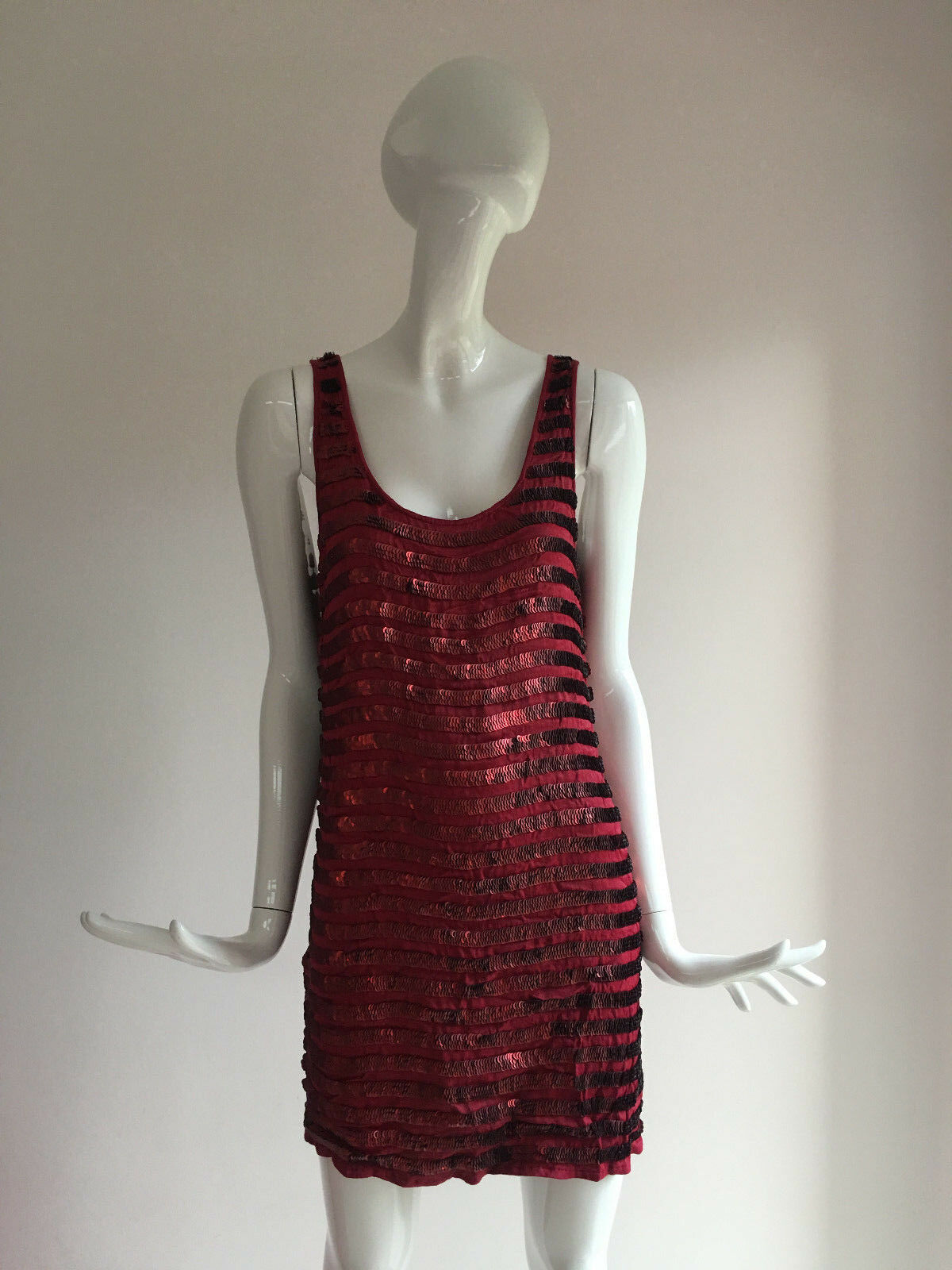 French Connection Red Serpent Sequin Party Dress Size 8 BNWT BNWT BNWT  RARE d6a1a2