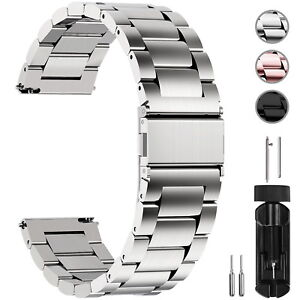 Watch-Band-Wrist-Stainless-Steel-Quick-Release-Strap-16-18-20-22-24mm-Link-Belt