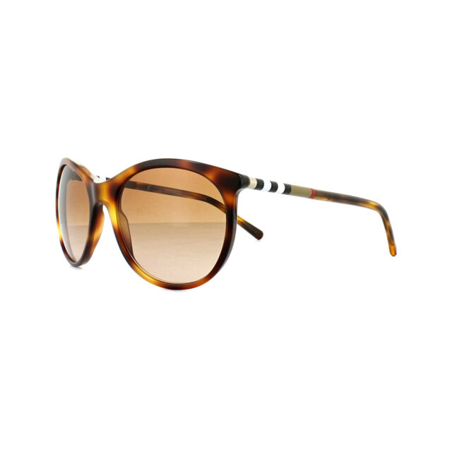 52aa41139a46 New Burberry Womens Sunglasses Havana Mock Tortoise Brown Gradient BE4145  331613