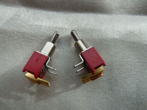 ON-ON 254 2 SUBMINIATURE Destro Angolato PCB Toggle switch SPDT