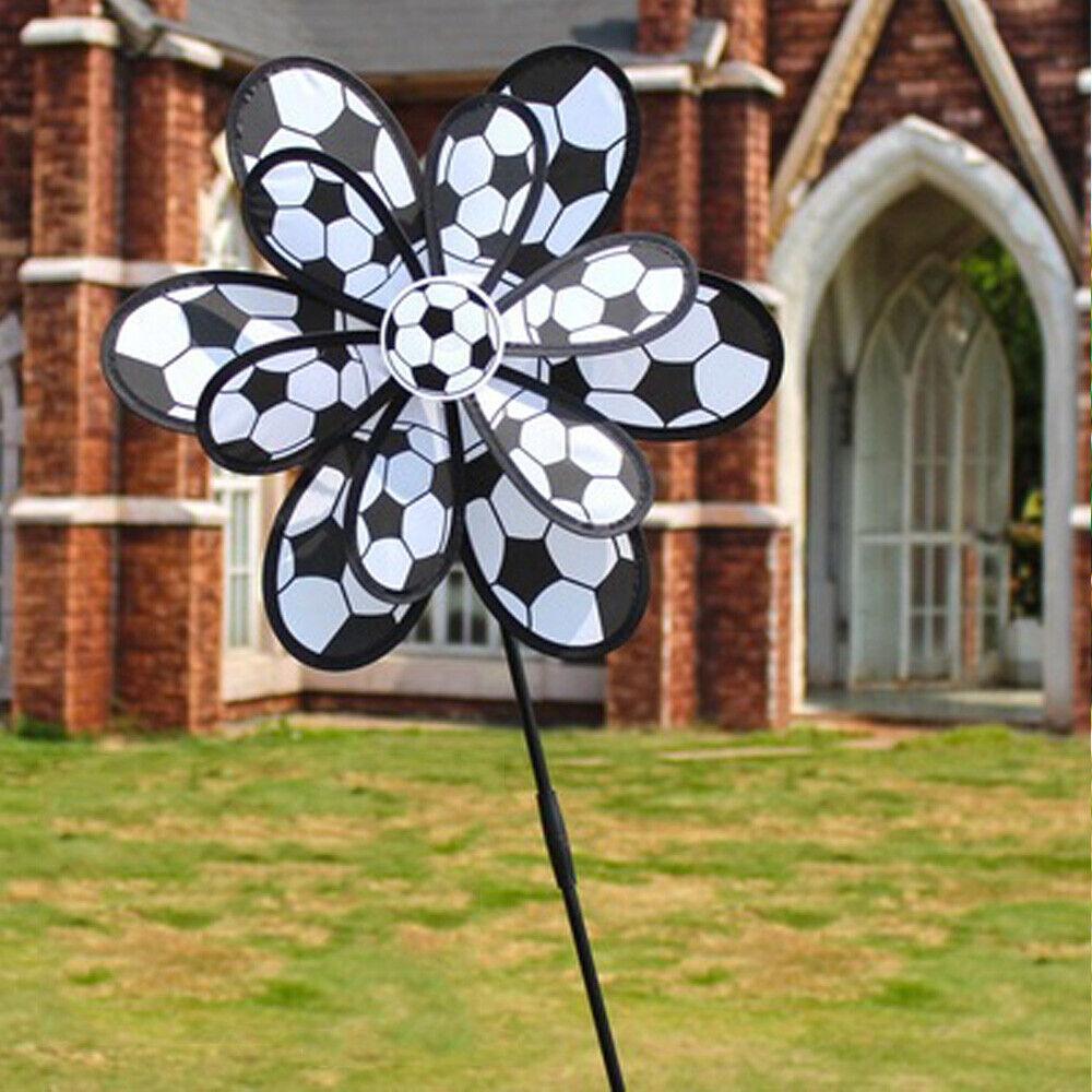 Garden Windmill Ornament Sunflower Ladybug Pinwheels Wind Sculptures Spinners