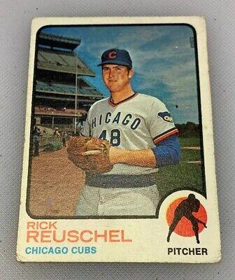 1973 Topps #482 Rick Reuschel Chicago Cubs RC Rookie Baseball Card