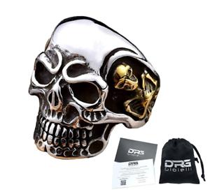 Anello-Teschio-Skull-Uomo-Acciaio-Donna-Argento-Oro-Incisioni-Personalizzate