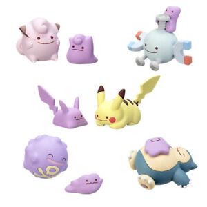 Pokemon-Gachapon-Ditto-Vol-4-Pikachu-Clefairy-Snorlax-Koffing-Magnemite-5PCS-Set