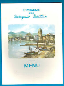 1968 - Menu à Bord 1ère Classe - Compagnie Maritime - Collioure - J.laborde Pv1dsyik-07224633-932887162