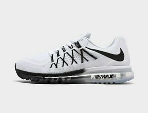 AUTHENTIC NIKE AIR MAX 2015 White and Black Comfortable Running Shoes Men Size