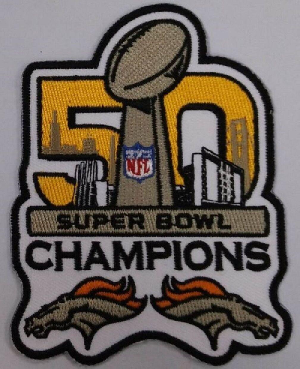 Iron Bowl Champs 2017 >> $6.49 SUPER BOWL 50 DENVER BRONCOS CHAMPIONSHIP PATCH 2016 NFL SUPERBOWL CHAMPS | eBay