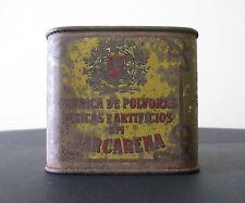 Portugal- Gunpowder Tin/Can Box from Fáb. de Pólv. Fís. e Art. em Barcarena RARE
