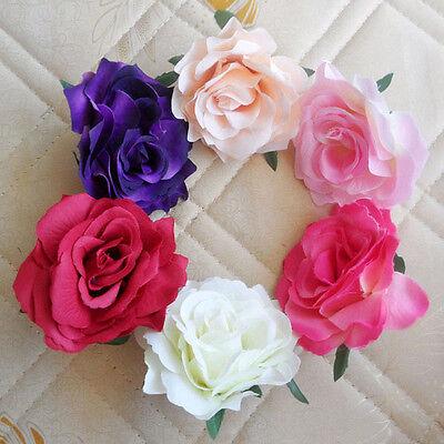 12 24 60pcs rose Artificial Silk flowers headwear Wedding wholesale