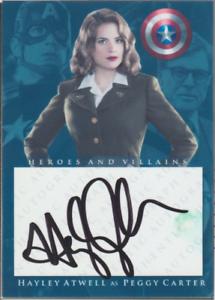 Hayley Atwell authentic signed custom autograph auto card JSA COA
