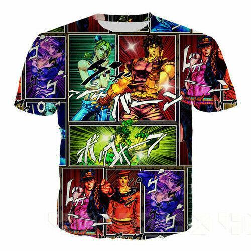 Anime JoJo Bizarre Adventure Women Men T-Shirt 3D Print Short Sleeve Tee Tops