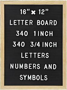 Felt Letter Board With 680 Letters Numbers Symbols 16 X 12 Inch Ebay