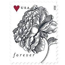 200 USPS Forever Stamps - 2015 Vintage Rose Stamps (10 Sheets of 20)