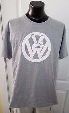 Peace Sign VW Volkswagen Logo Van Bus Gray T Shirt Adult XL Retro New NWOT