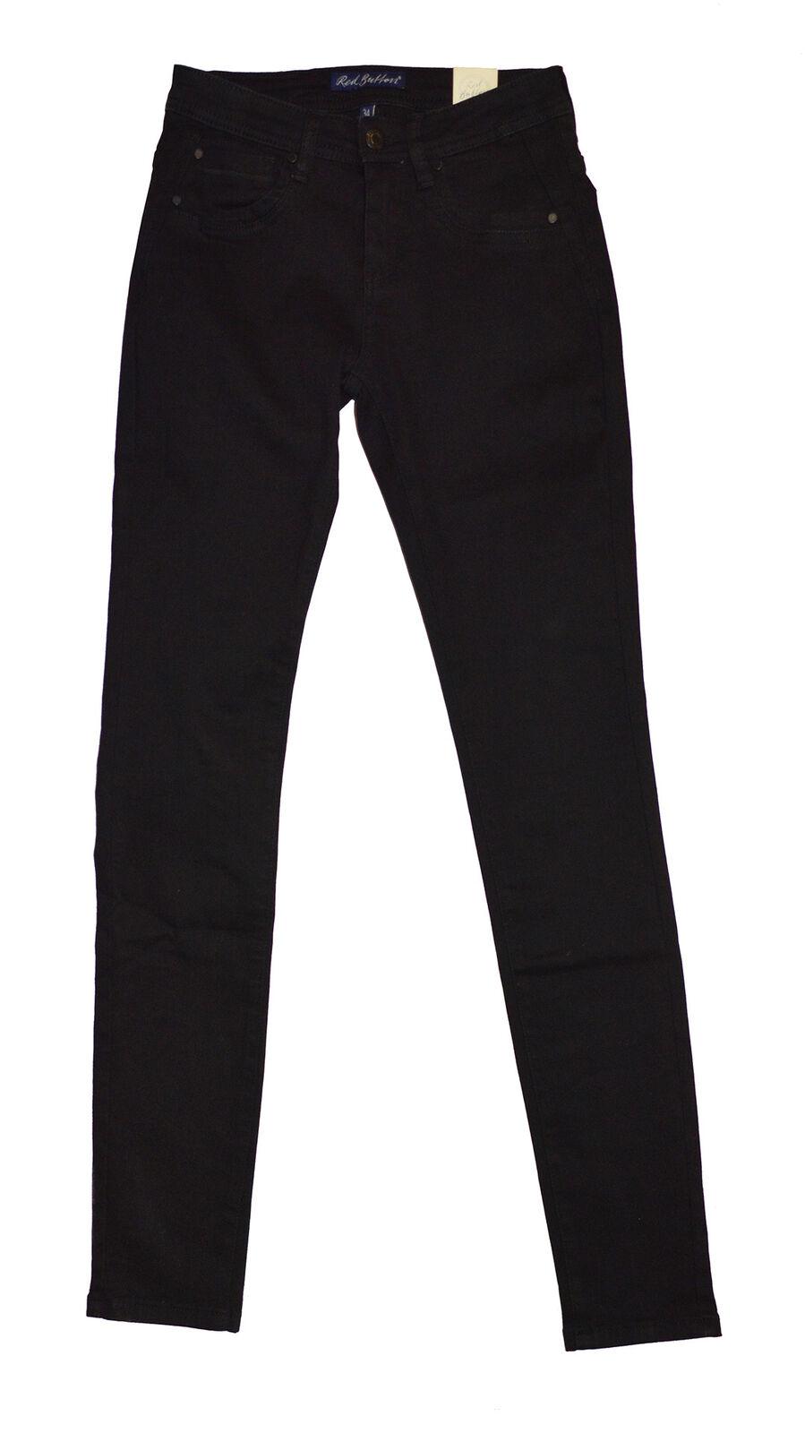 rot Button Damen Jeans Jimmy Skinny schwarz schwarz Neu