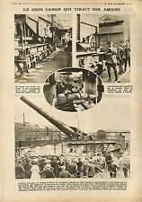Canons sur Truck Train Munitions Paris Champs-de-Mars Petite Bertha War 1918 WWI