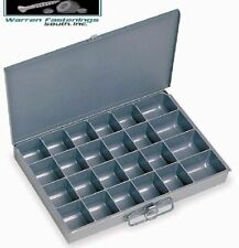 Metal 24 Hole Storage Bin Cabinet Tray For Nuts Amp Bolts 6 Pack