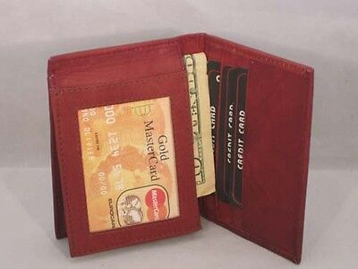 CARD CASE GENUINE LEATHER FITS 19 CARDS DARK BROWN PERFECT GIFT IDEA LEATHERBOSS