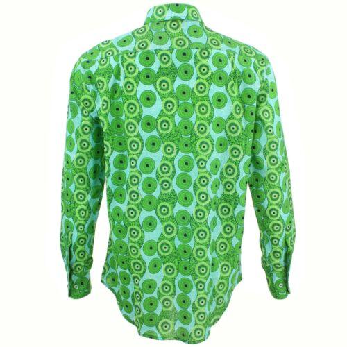 Men/'s Loud Shirt REGULAR FIT Aboriginal Green Retro Psychedelic Fancy