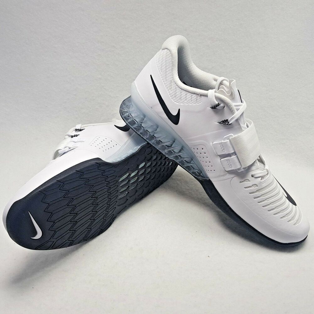 200 New Nike homme Romaleos 3 Power Weight Lifting Training Crossfit blanc Sz 13