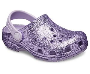 Crocs Kids Classic Glitter Clog | eBay