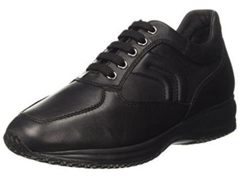 Happy Man H Black Nappa Scarpe Uomo Leather Nero Casual Geox Sneakers zwgqI5Exy