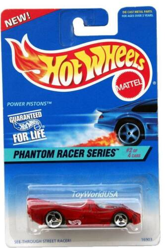 1997 Hot Wheels #530 Phantom Racer #2 Power Pistons without painted base