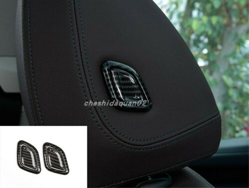 Carbon Fiber Interior Headrest adjustment Trim For BMW X3 G01 X4 G02 2018-2019