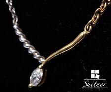 Diamant Navette Collier aus Platin und 750 Gold modern zeitlos