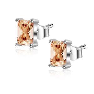 Image Is Loading Princess Cut Yellow Topaz Earrings Women 039 S