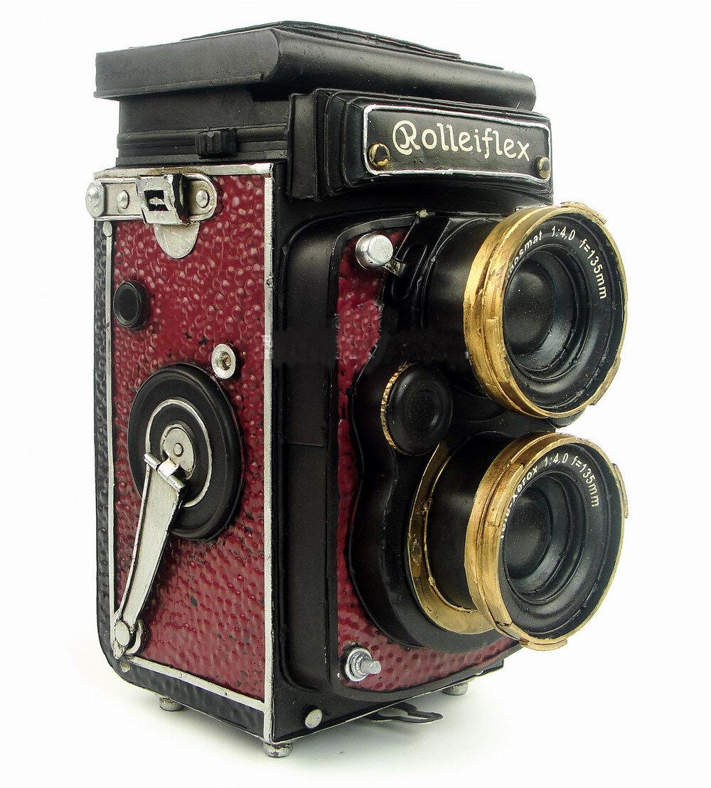 Cámara De Fotos Antiguo Retro Vintage Metal Metal Metal Imitación Hojalata Modelo hecho a mano  barato
