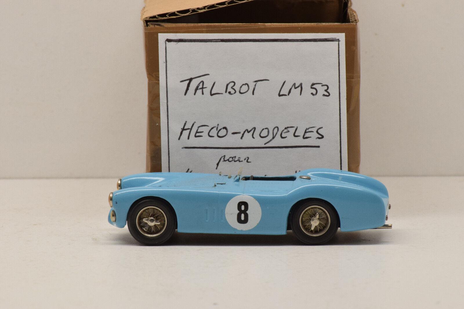 Kit 45 talbot le mans 1953   8 heco-plantillas  el coche para nuevo  1   43