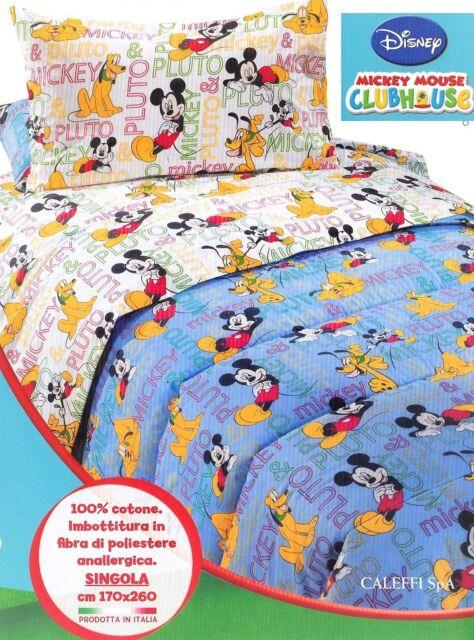 Trapunta Estiva Singola Disney.Trapunta Piumone Invernale Singolo Mickey Pluto Relax Caleffi Disney Acquisti Online Su Ebay