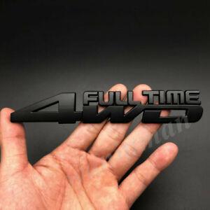 Metal Black 4WD FULL TIME 4X4 Car Fender Trunk Emblem Badge Decal Sticker