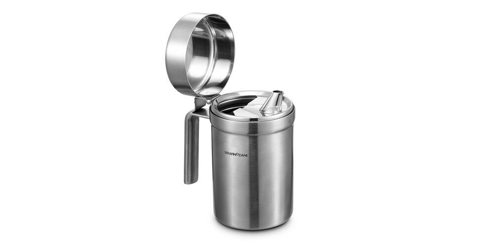 SERAFINO ZANI 18 10 Stainless steel Olive Oil Vinegar Dispenser Cruet Bottle