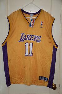 Vintage LA Los Angeles Lakers NBA Jersey Karl Malone #11 Reebok ...