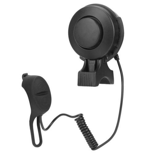 Waterproof Bicycle Horn Adjustable Volume Bike Charging Horn Bell 4 Voice Black❤